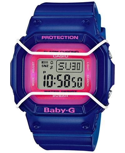 Baby-G Women's Digital Blue Resin Strap Watch 40x45mm BGD501FS-2