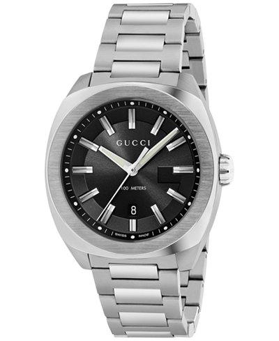 Gucci Men's Swiss GG2570 Stainless Steel Bracelet Watch 44mm YA142201