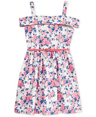 Beautees Off-The-Shoulder Floral Dress, Big Girls (7-16)