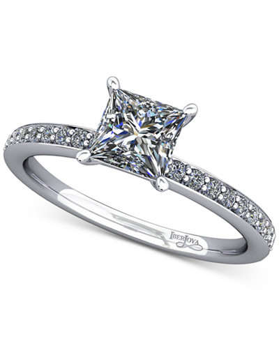 Diamond Accented Mount Setting (1/5 ct. t.w.) in 14k White Gold