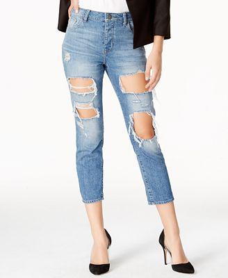 DL 1961 Goldie Shredded Wash Ripped Boyfriend Jeans