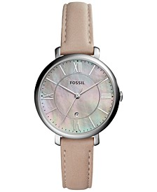 Women's Jacqueline Pink Leather Strap Watch 36mm ES4151