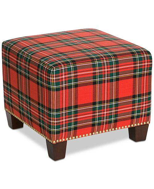 Furniture Galen Ottoman Holiday Collection, Quick Ship