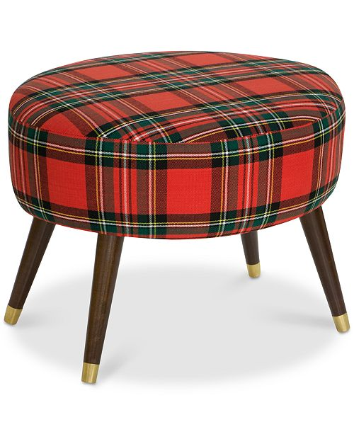 Furniture Karlen Ottoman Holiday Collection, Quick Ship