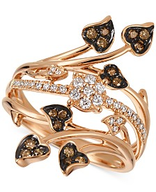 Le Vian Chocolatier® Diamond Statement Ring (3/8 ct. t.w.) in 14k Rose Gold