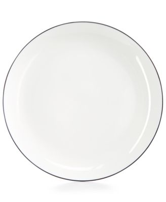 Image of Hotel Collection Black Line Dinner Plate, Created for Macy's