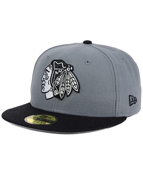 puhdistushinnat valtava inventaario poistomyynti New Era Chicago Blackhawks Gray Black 59FIFTY Cap & Reviews ...