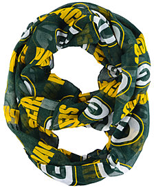 Forever Collectibles Green Bay Packers All Over Logo Infinity Wrap Scarf