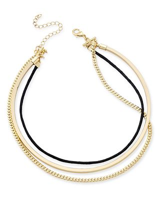 INC International Concepts Triple Row Collar Necklace, Only at Macy's