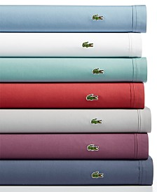 Lacoste Home Solid 4-pc Sheet Sets, Cotton Percale
