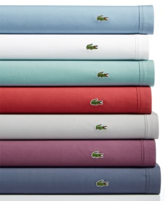 lacoste home solid 4pc sheet sets cotton percale more colors available