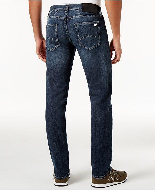 factory outlet best service lowest price A|X Armani Exchange Denim Five Pocket Pants & Reviews - Men - Macy's