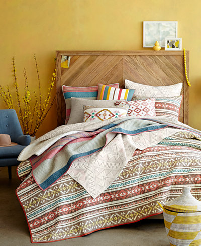 CLOSEOUT! Martha Stewart Collection Aztec Dreams Quilt and Sham Collection, Created for Macy's