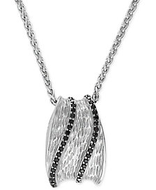 EFFY® Diamond Pendant Necklace (3/8 ct t.w.) in Sterling Silver