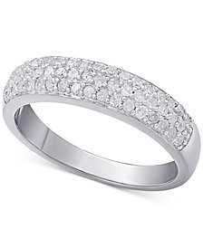Diamond Pavé Ring (1/2 ct. t.w.) in sterling silver, 18k gold-plated sterling silver or 18k rose gold-plated sterling silver