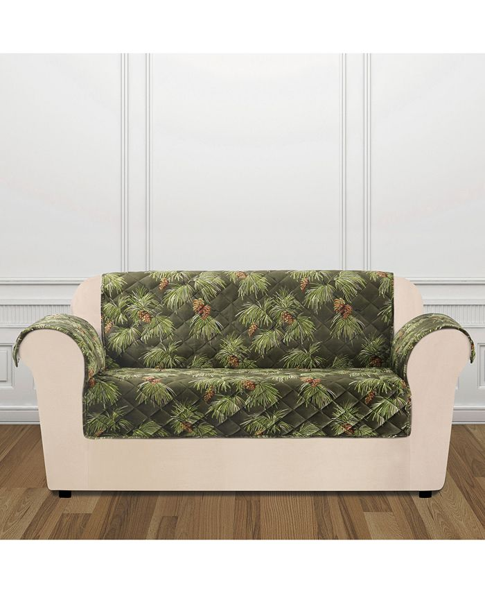 Sure Fit - Holiday Motifs Quilted Loveseat Slipcover