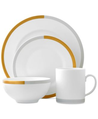 Castillon Gold/Gray Collection 4-Piece Place Setting