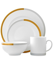 Vera Wang Wedgwood Castillon Gold/Gray Collection 4-Piece Place Setting