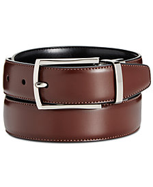 Ryan Seacrest Distinction Men's Feather-Edge Reversible Belt, Created for Macy's