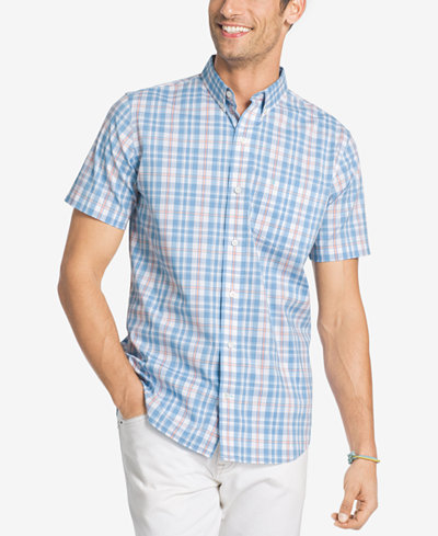 Izod men 39 s advantage stretch plaid shirt casual button for Izod button down shirts