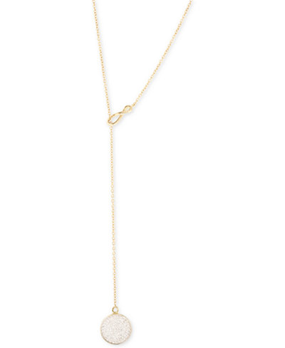 Wrapped™ Diamond Pavé Lariat Necklace (1/5 ct. t.w.) in 10k Gold, Created for Macy's