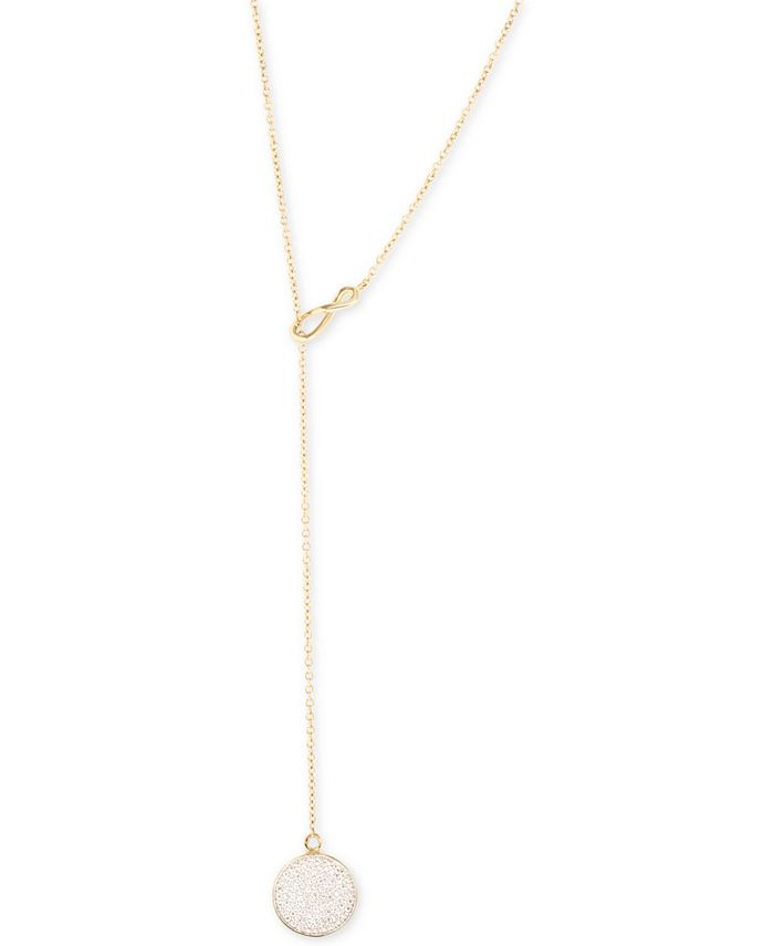 Wrapped - Diamond Pavé Lariat Necklace (1/5 ct. t.w.) in 10k Gold