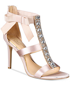 Jewel Badgley Mischka Henderson Strappy Bow Evening Sandals