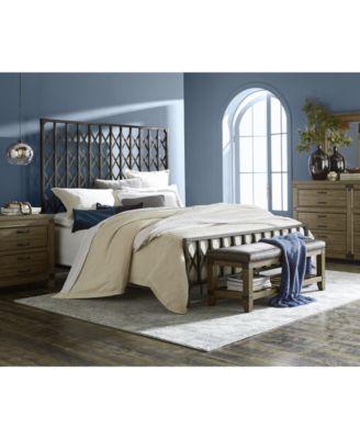 Metalworks Metal King Bed - Furniture - Macy\'s