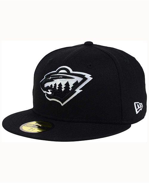 premium selection da6ac e1941 ... New Era Minnesota Wild Black Dub 59FIFTY Cap ...