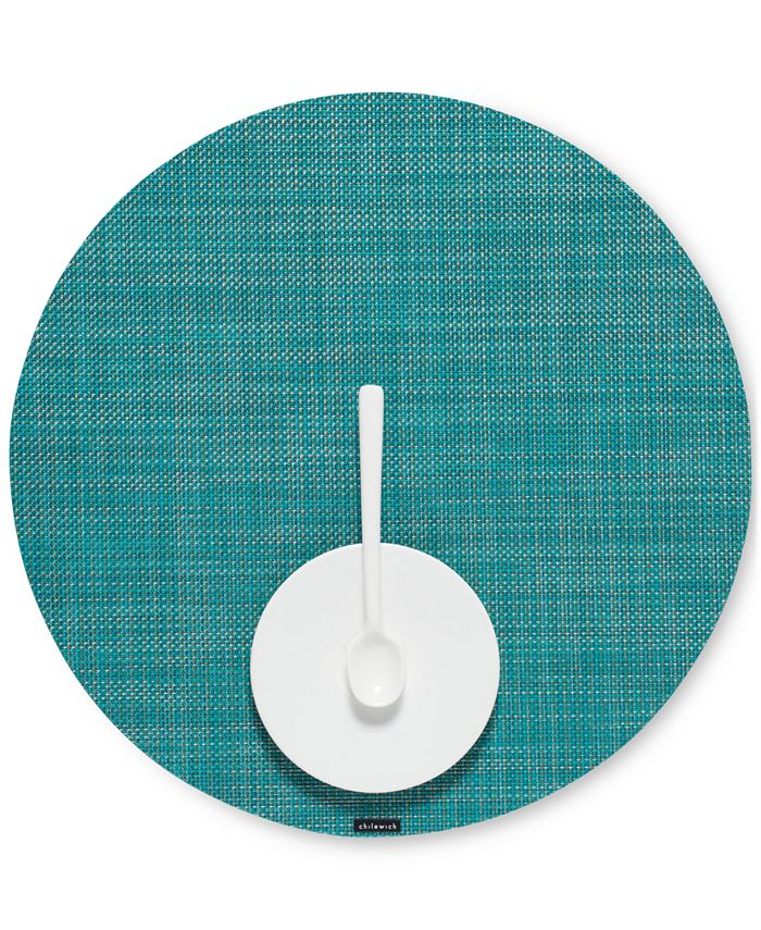 """Chilewich - Mini Basketweave 15"""" Round Placemat"""