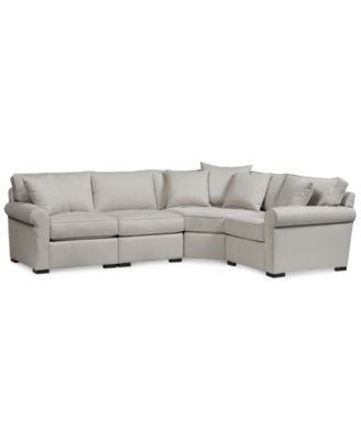 "Astra 4-Pc. ""L"" Shaped Fabric Sectional, Created for Macy's"