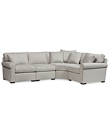 "CLOSEOUT! Astra 4-Pc. ""L"" Shaped Fabric Sectional, Created for Macy's"