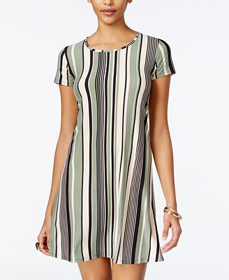 Planet Gold Juniors' Striped Swing Dress