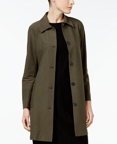 Eileen Fisher Washable Crepe Classic-Collar Jacket