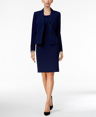 Kasper Two-Button Blazer & Sheath Dress