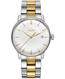 Rado Men's Swiss Coupole Classic Two-Tone Stainless Steel Bracelet Watch 37mm R22864032