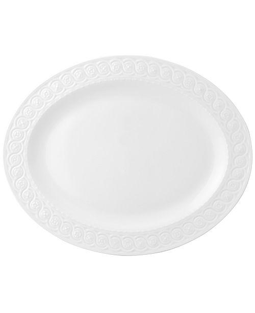 "Bernardaud Dinnerware, Louvre Oval Platter, 15"""