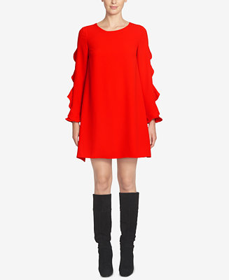 CeCe Ivy Ruffled Shift Dress