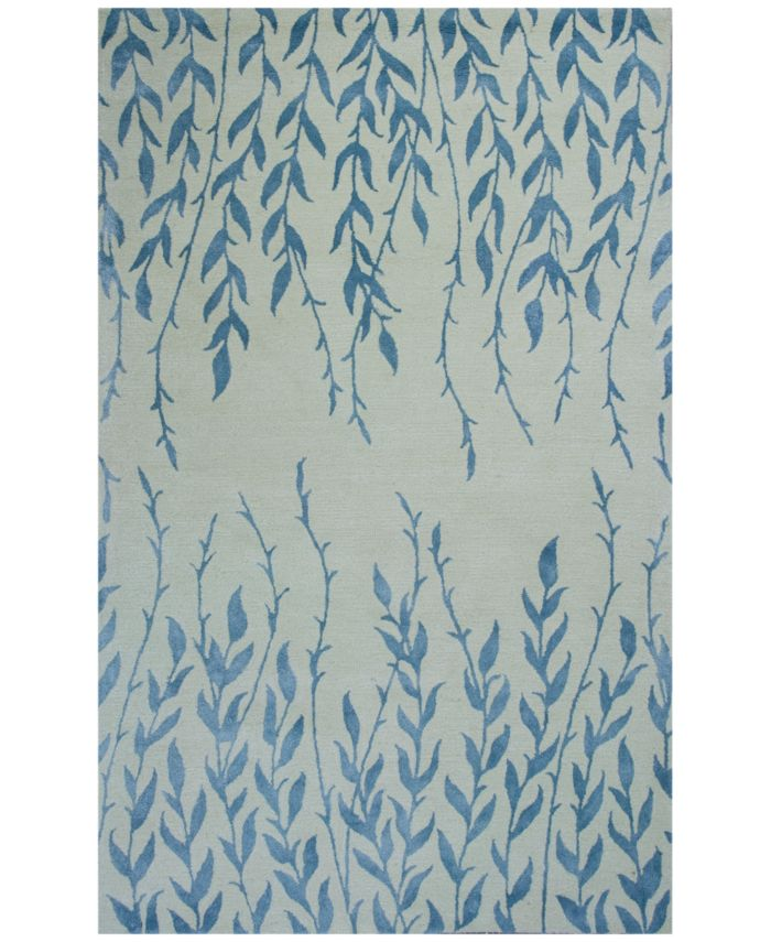Kas CLOSEOUT! Bob Mackie Home 1004 Ivory Tranquility 5' x 8' Area Rug & Reviews - Rugs - Macy's