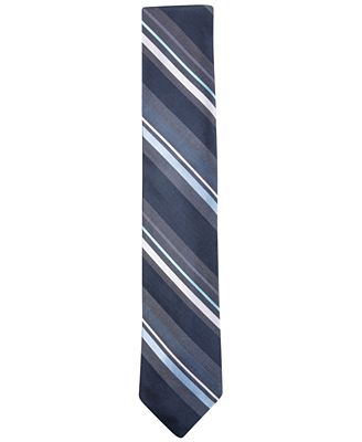 Ryan Seacrest Distinction™ Men's Bayshore Stripe Slim Tie, Only at Macy's