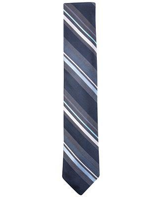 Ryan Seacrest Distinction™ Men's Bayshore Stripe Slim Tie, Only at Macy's