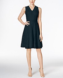 Petite Lace Fit & Flare Dress, Created for Macy's
