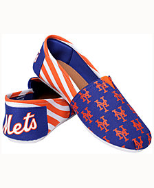 Forever Collectibles Women's New York Mets Canvas Stripe Shoe