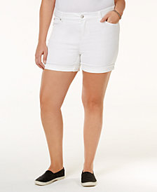 Celebrity Pink Trendy Plus Size Denim Shorts