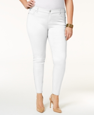 Trendy Plus Size Colored Wash Skinny Jeans