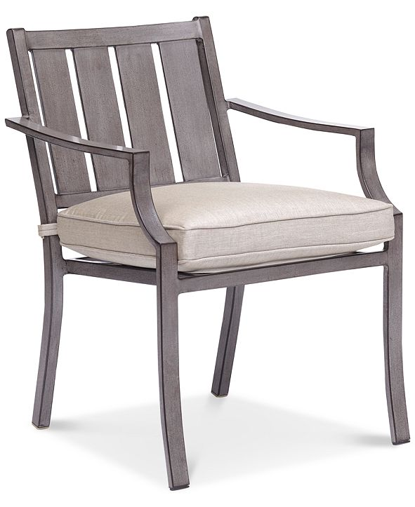 Furniture Wayland Outdoor Dining Chair with Sunbrella® Cushion, Created for Macy's