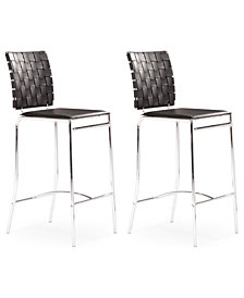 Daniel Set of 2 Counter Chairs, Quick Ship