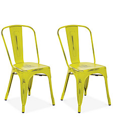 Galan Metal Chairs (Set Of 2), Quick Ship