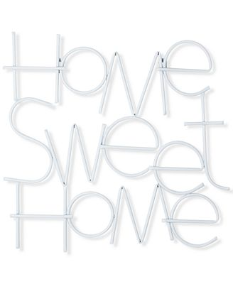 Home Sweet Home Wall Art graham & brown home sweet home metal wall art - wall art - macy's