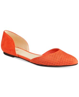 Image of Bar III Luna Perforated Two-Piece Flats, Only at Macy's